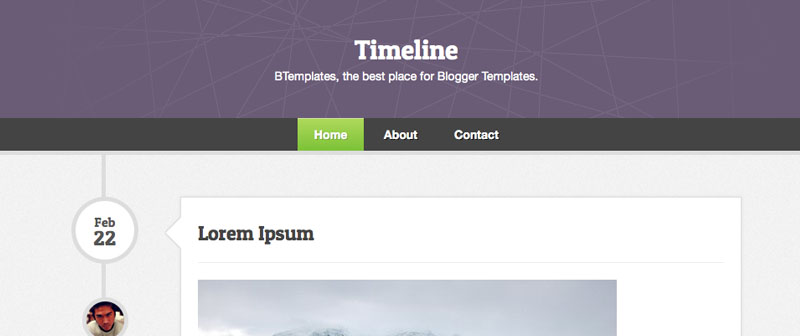 Best Free Blogger Templates Daily Design Notes - Timeline blogger template