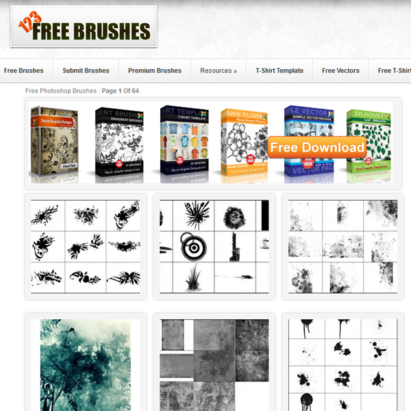 123FreeBrushes