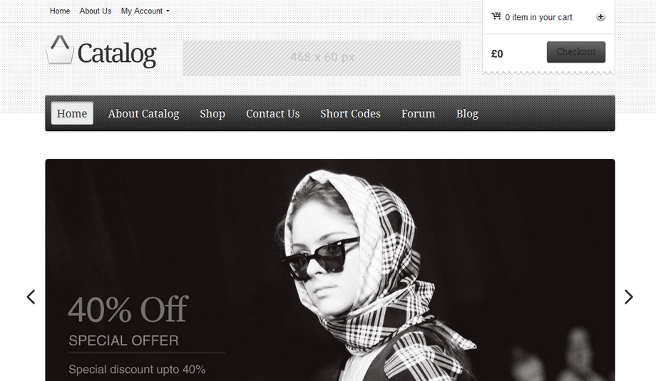 wordpress ecommerce theme