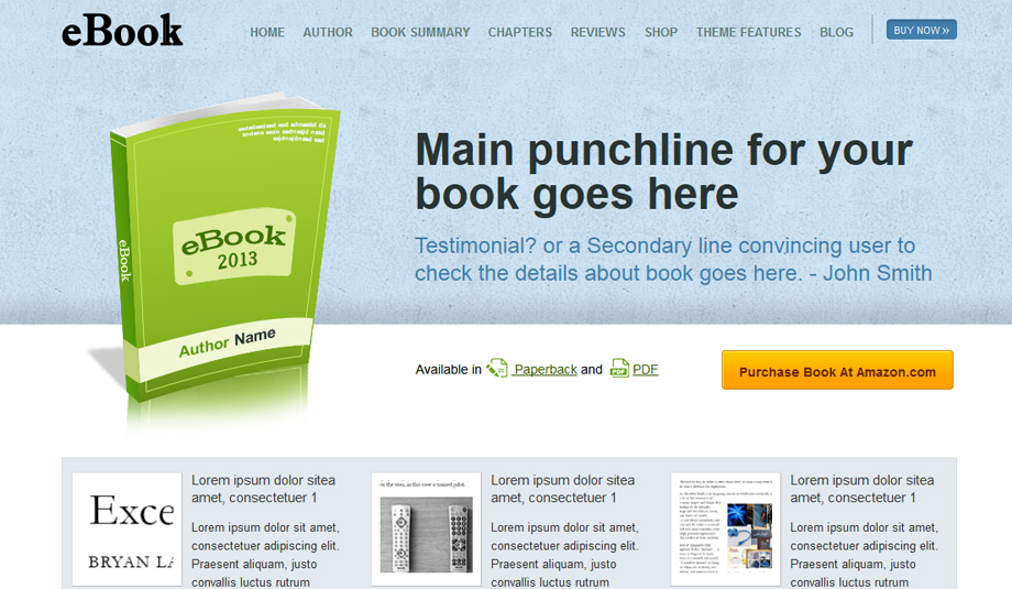 ebook wordpress theme