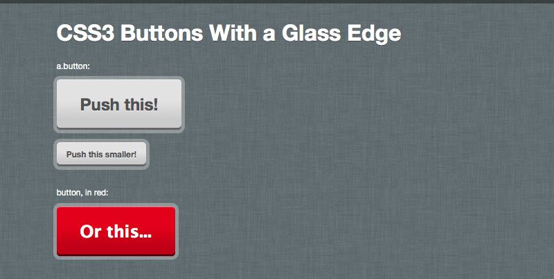 glass edge buttons