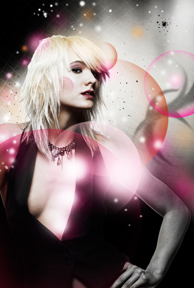 Glowing Fashion Photo Manipulation