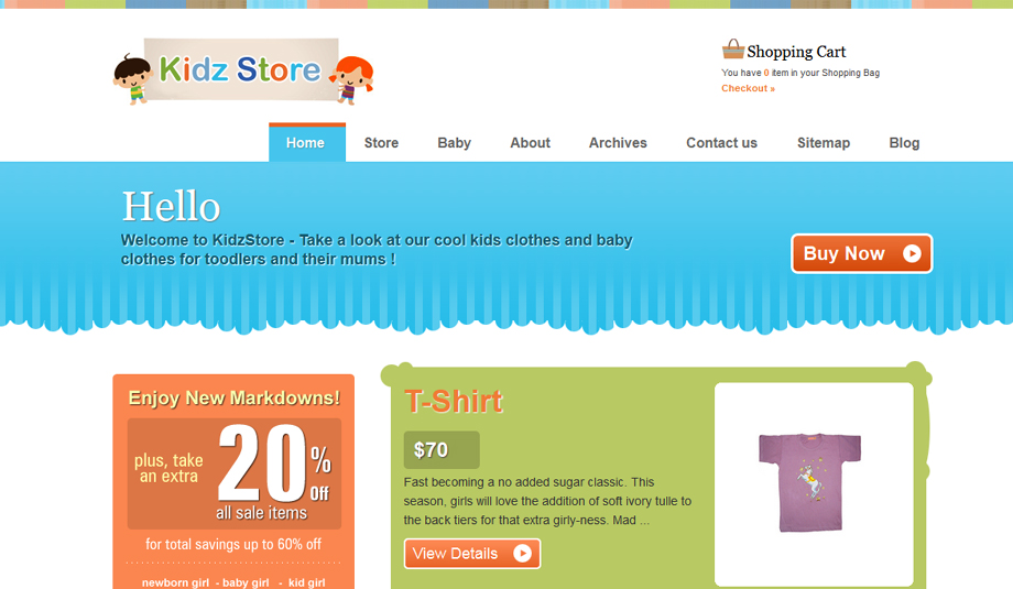 kidz store wordpress theme