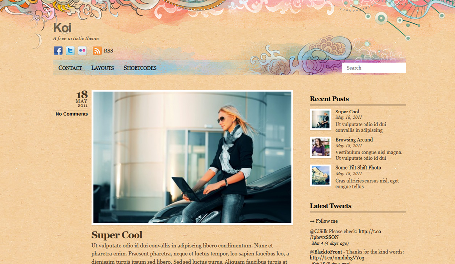 koi wordpress theme