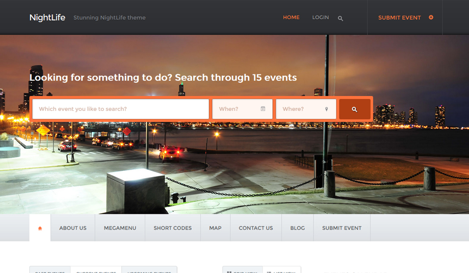 nightlife wordpress theme