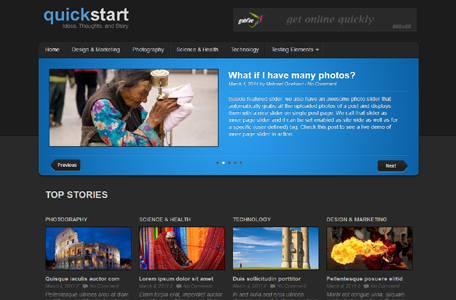 quickstart wordpress theme