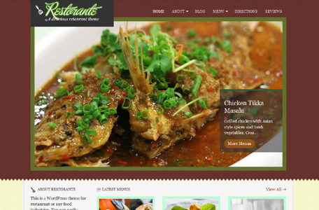 restorante wordpress theme