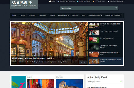 snapwire wordpress theme