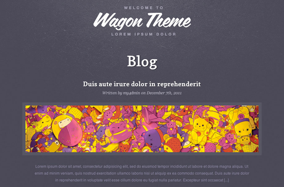 wagon-wordpress-theme