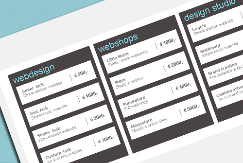 15 top free css3 pricing tables daily free web design for Css table zebra design