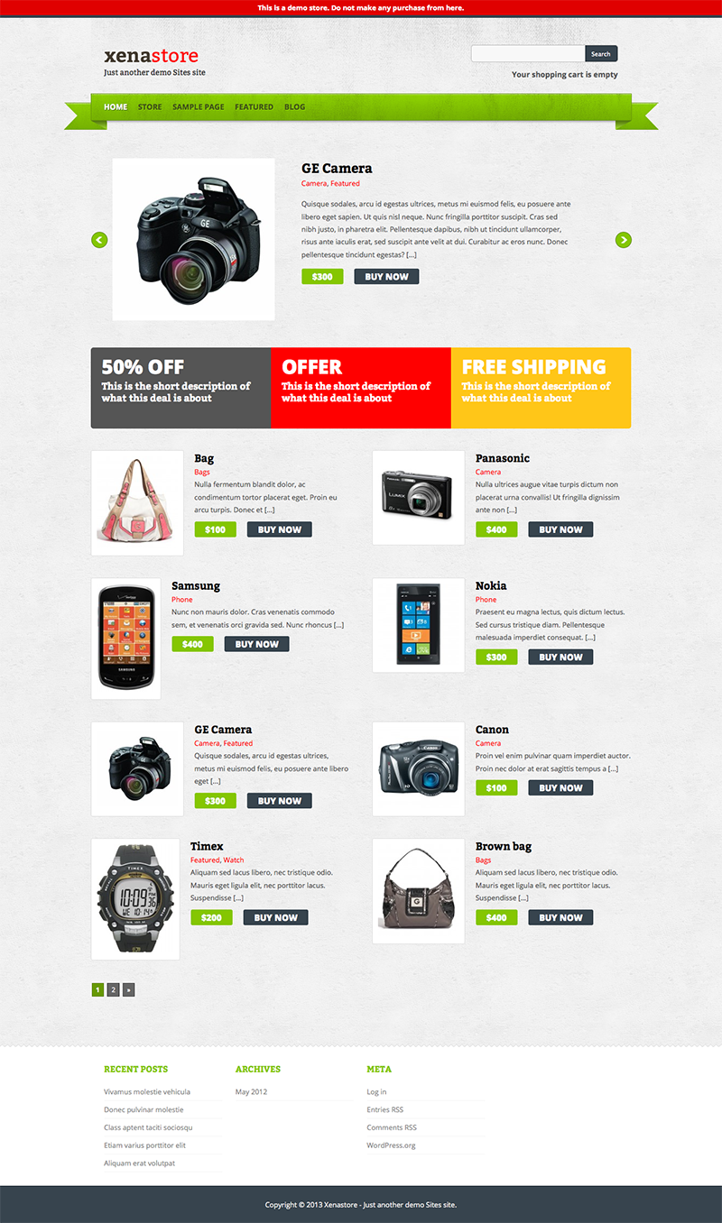 10 Top Free WordPress eCommerce Themes of 2013 - Free WP Themes