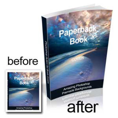 3d book template photoshop