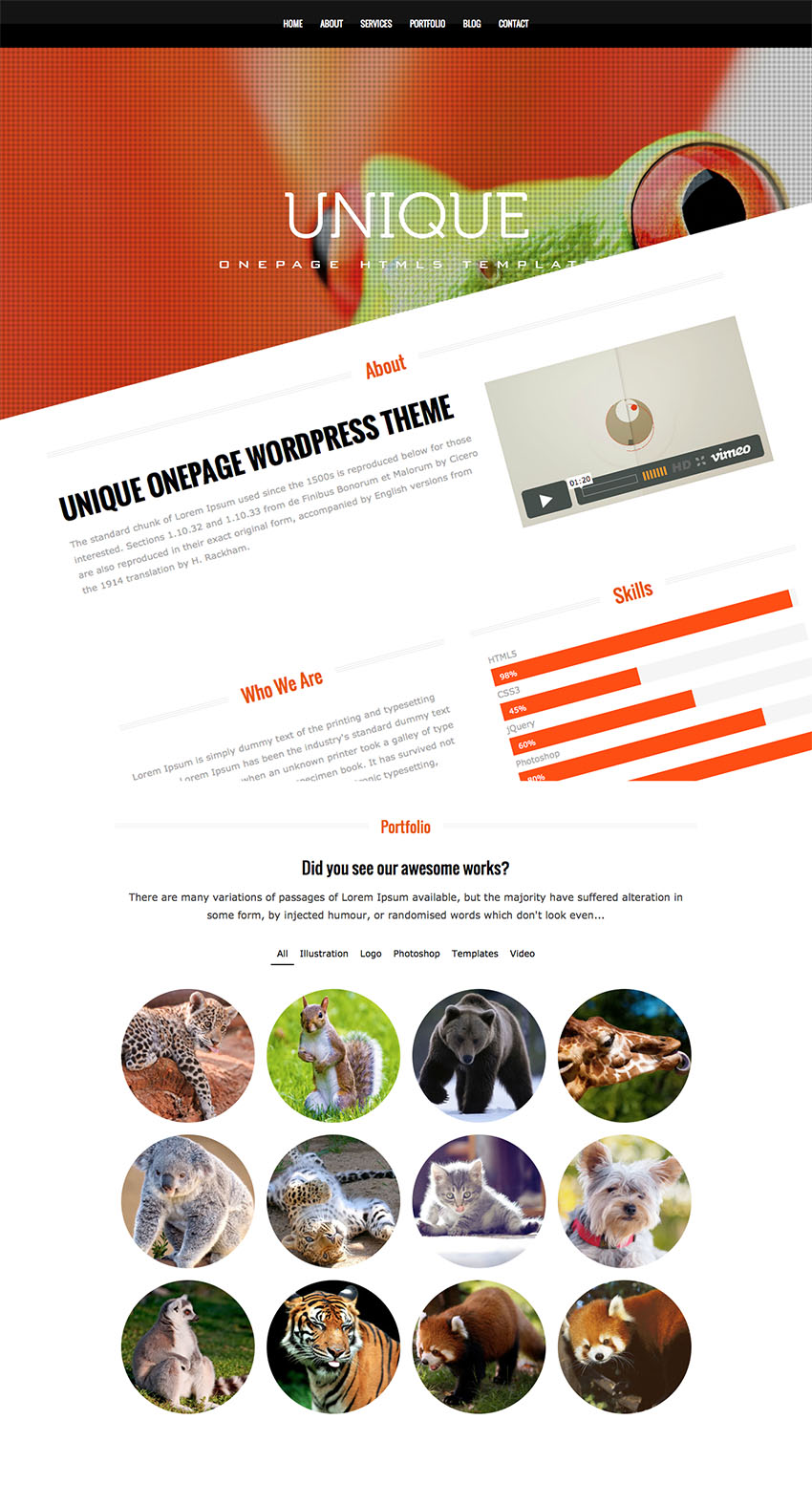 unique-wordpress-theme
