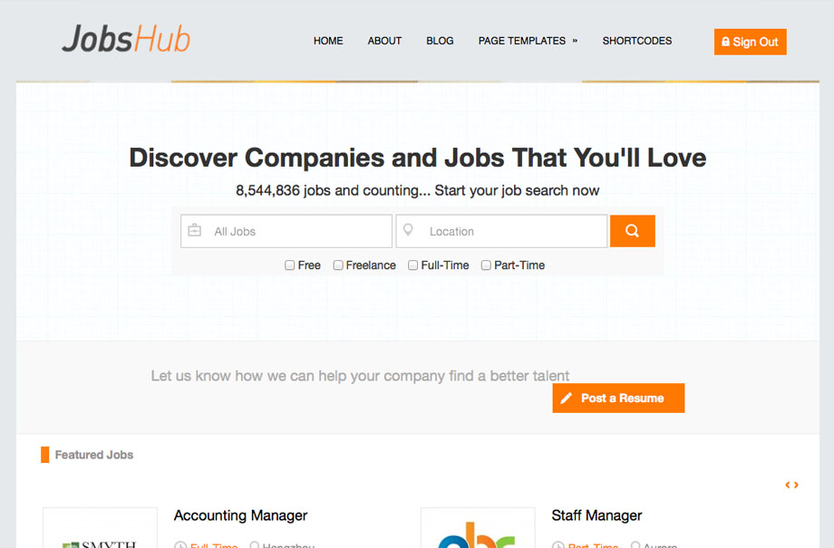 jobshub-wordpress-theme