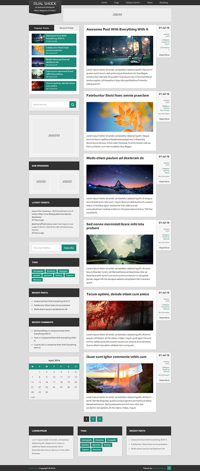 Dual Shock WordPress Theme