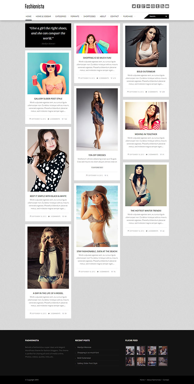 Fashionista WordPress Theme