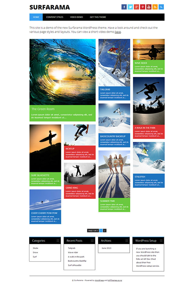 Surfarama WordPress Theme