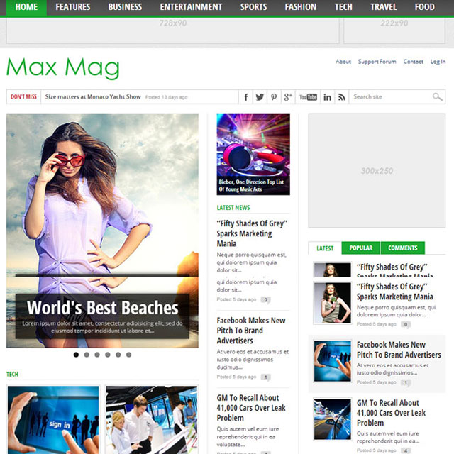 Max Magazine WordPress Theme