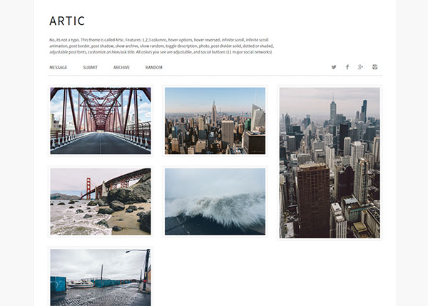 Artic Tumblr Theme