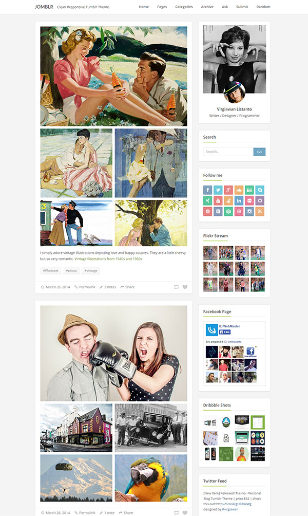 Jomblr Tumblr Theme