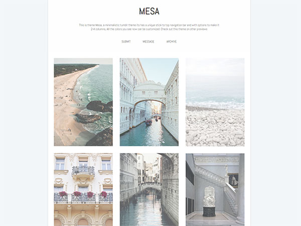 10 of the best free minimalist tumblr themes 2015 mesa theme pronofoot35fo Gallery